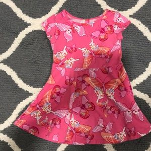 2T The Childrens Place pink orange butterfly dress
